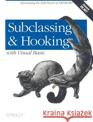 Subclassing and Hooking with Visual Basic Stephen Teilhet 9780596001186
