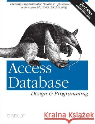 Access Database Design & Programming, 3rd Edition Steven Roman 9780596002732