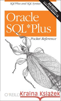 Oracle SQL Plus Pocket Reference Jonathan Gennick 9780596008857