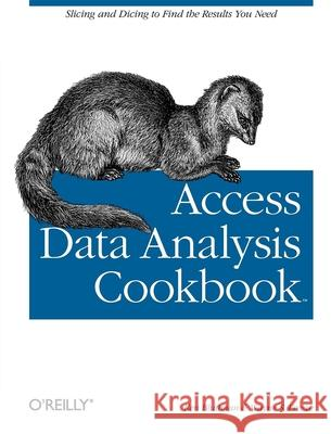 Access Data Analysis Cookbook Ken Bluttman Wayne Freeze 9780596101220
