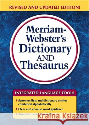 Merriam-Webster's Dictionary and Thesaurus (Trade Edition) Merriam-Webster 9780606401371
