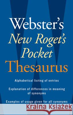 Webster's New Roget's Pocket Thesaurus Houghton Mifflin 9780618953202