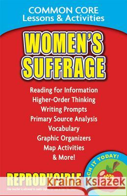 Womens Suffrage & the 19th Century: Common Core Lessons & Activities Carole Marsh 9780635105912
