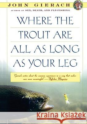 Where the Trout Are All as Long as Your Leg John Gierach 9780671754556