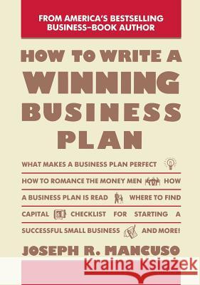 How to Write a Winning Business Report Joseph Mancuso 9780671763589