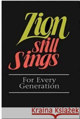 Zion Still Sings for Every Generation Pew Edition Abingdon Press 9780687335275
