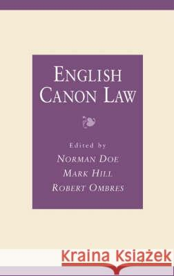 English Canon Law : Essays in Honour of Bishop Eric Kemp, Bishop of Chichester  9780708314784