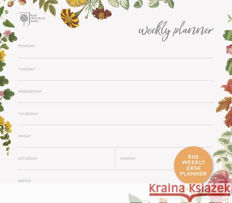Rhs Weekly Desk Planner Royal Horticultural Society 9780711239470