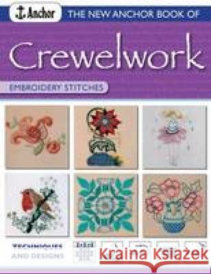 The New Anchor Book of Crewelwork Embroidery Stitches Phillipa Turnbull 9780715319147