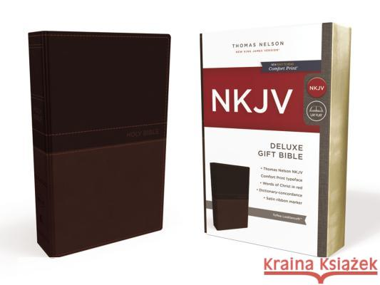 NKJV, Deluxe Gift Bible, Imitation Leather, Tan, Red Letter Edition Thomas Nelson 9780718075200