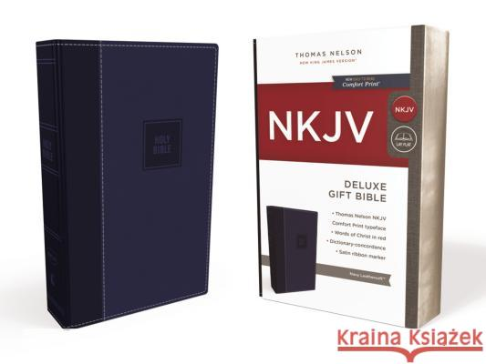 NKJV, Deluxe Gift Bible, Imitation Leather, Blue, Red Letter Edition Thomas Nelson 9780718075224