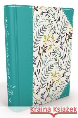 NKJV, Journal the Word Bible, Hardcover, Blue Floral Cloth, Red Letter Edition: Reflect, Journal, or Create Art Next to Your Favorite Verses  9780718088644