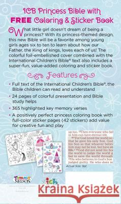 ICB Princess Bible with Coloring Sticker Book Thomas Nelson 9780718090999