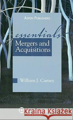 Mergers and Acquisitions Carney                                   William J. Carney 9780735583696