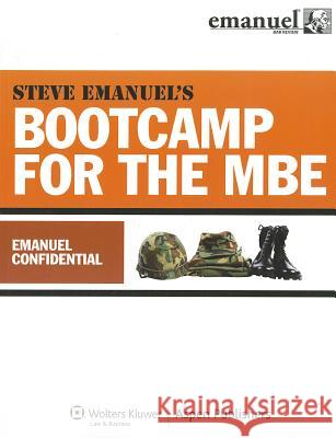 Bootcamp for the MBE: Emanuel Confidential Steven Emanuel 9780735597471