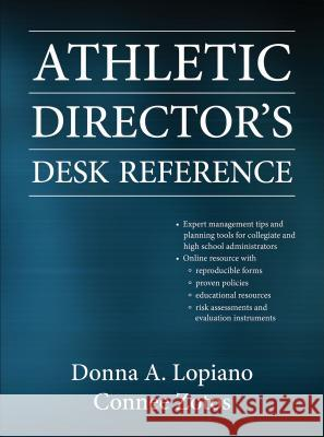 Athletic Director's Desk Reference Donna Lopiano Connee Zotos 9780736082815