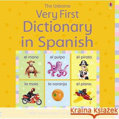 VERY FIRST DICTIONARY IN SPANISH Felicity Brooks 9780746089071