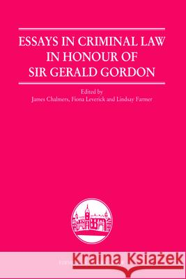 Essays in Criminal Law in Honour of Sir Gerald Gordon  9780748640706