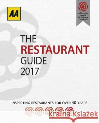 The Restaurant Guide 2017  AA Publishing 9780749578299