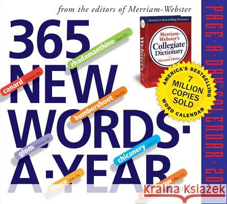 365 New Words-A-Year Page-A-Day Calendar 2018 Merriam-Webster 9780761193869