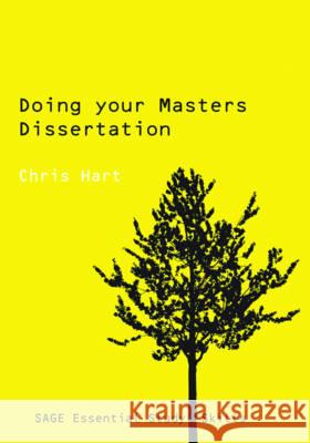Doing Your Masters Dissertation Chris Hart 9780761942160