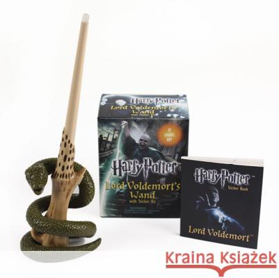 Harry Potter Lord Voldemort's Wand with Sticker Kit [With Book(s) and 8-Inch Light-Up Replica of Lord Voldemort's Wand] Running Press 9780762452415 Running Press Book Publishers