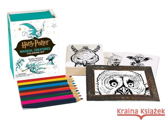 Harry Potter Magical Creatures Coloring Kit Running Press 9780762461479 Running Press Book Publishers