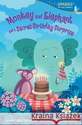 Monkey and Elephant and a Secret Birthday Surprise Carole Lexa Schaefer Galia Bernstein 9780763687441