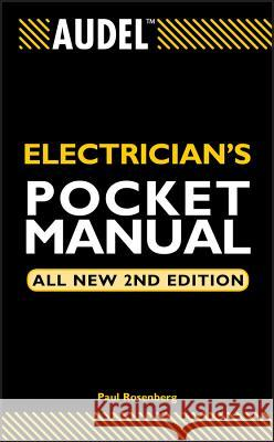 Audel Electrician's Pocket Manual Paul Rosenberg 9780764541995