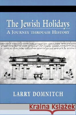 The Jewish Holidays : A Journey through History Larry Domnitch 9780765761095