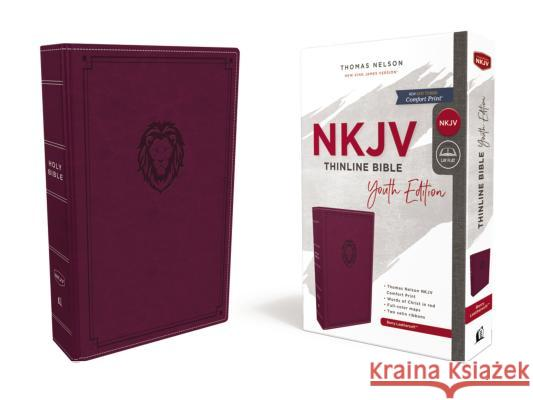 Nkjv, Thinline Bible Youth Edition, Leathersoft, Burgundy, Red Letter Edition, Comfort Print Thomas Nelson 9780785225706