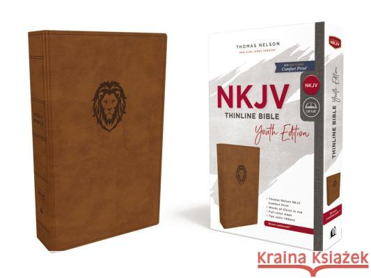 Nkjv, Thinline Bible Youth Edition, Leathersoft, Brown, Red Letter Edition, Comfort Print Thomas Nelson 9780785225775