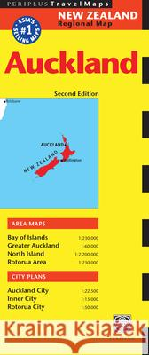 Auckland Travel Map Second Edition Tuttle Publishing 9780794600334