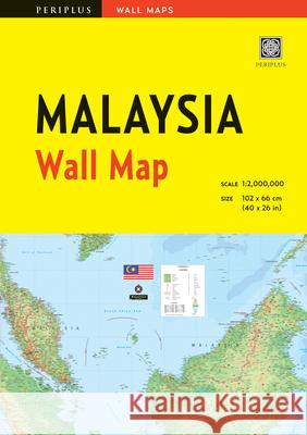 Malaysia Wall Map First Edition Periplus Editors 9780794608088