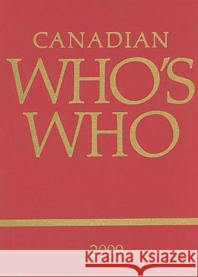 Canadian Who's Who 2009 Elizabeth Lumley 9780802040923 University of Toronto Press