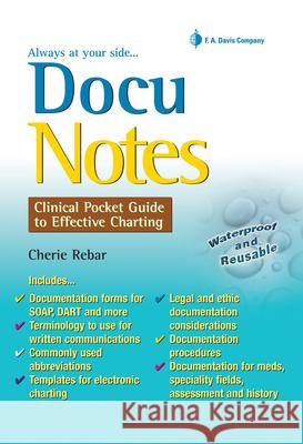 Docunotes:  Clinical Pocket Guide to Effective Charting Rebar 9780803620926