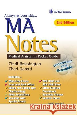 MA Notes: Medical Assistant's Pocket Guide Brassington 9780803623668