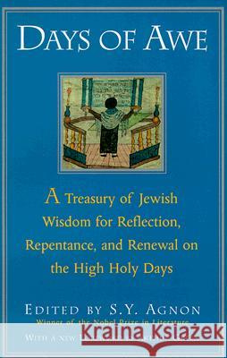 Days of Awe: A Treasury of Jewish Wisdom for Reflection, Repentance, and Renewal on the High Holy Days Shmuel Yosef Agnon S. Y. Agnon Schmuel Yoseph Agnon 9780805210484