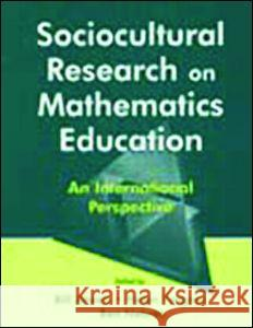 Sociocultural Research Math. PR Bill Atweh Ben Nebres Helen Forgasz 9780805837261 Lawrence Erlbaum Associates