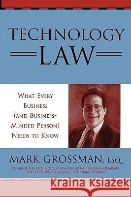 Technology Law: What Every Business (and Business-Minded Person) Needs to Know Mark Grossman 9780810847385