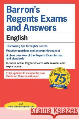 Regents Exams and Answers: English Carol Chaitkin Samuel Kostman 9780812031911