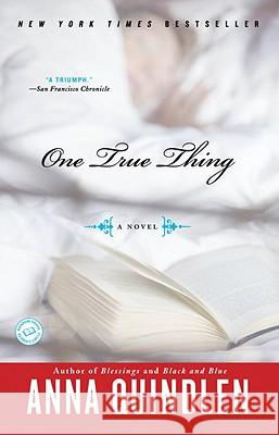 One True Thing Anna Quindlen 9780812976182