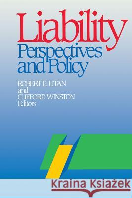 Liability: Perspectives and Policy  9780815752714