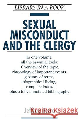 Sexual Misconduct and the Clergy Jeffrey Ferro 9780816054947