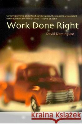 Work Done Right David Dominguez 9780816522668