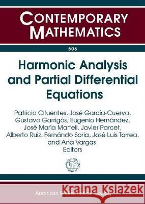Harmonic Analysis and Partial Differential Equations (Contemporary Mathematics)   9780821847701