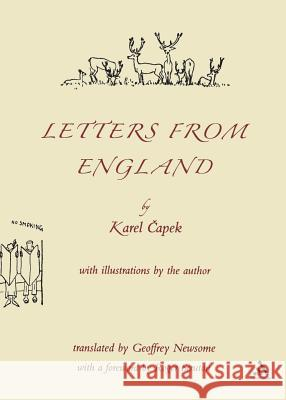 Letters from England Karel Capek 9780826484857 0