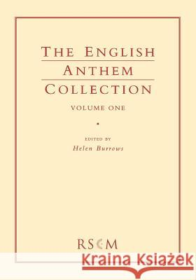English Anthem Collection 1 Helen Burrows 9780854021208