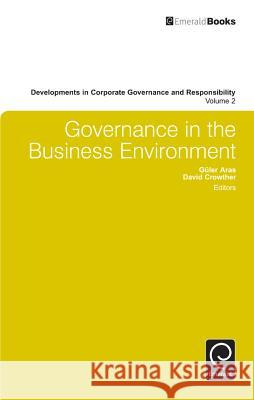 Governance in the Business Environment  9780857248770