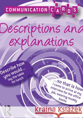 Descriptions and Explanations - Communication Cards  Roberts, Alison 9780863889608